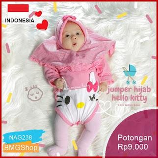 NAG238 Baju Bayi Jumper Hijab Hello Kitty Murah Bmgshop