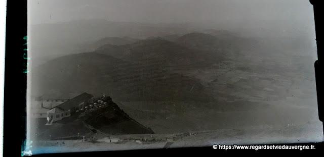 photo plaque de verre sommet du puy de dôme, 1934