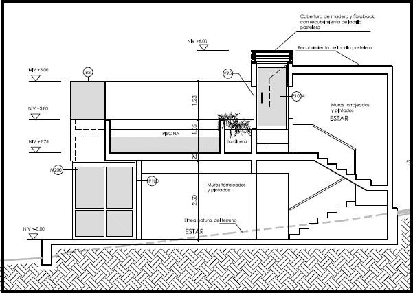 Casas de Playa - Planos de Elevación y Corte