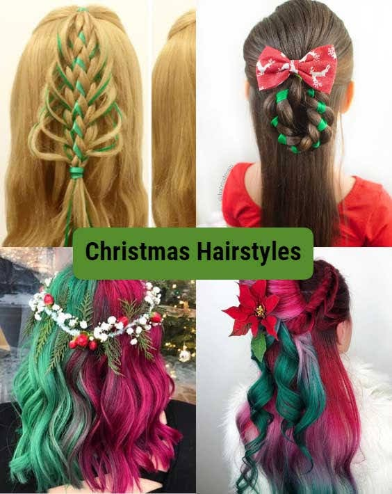 Beautiful Christmas Hairstyles that's easy to do and will make you look really cute