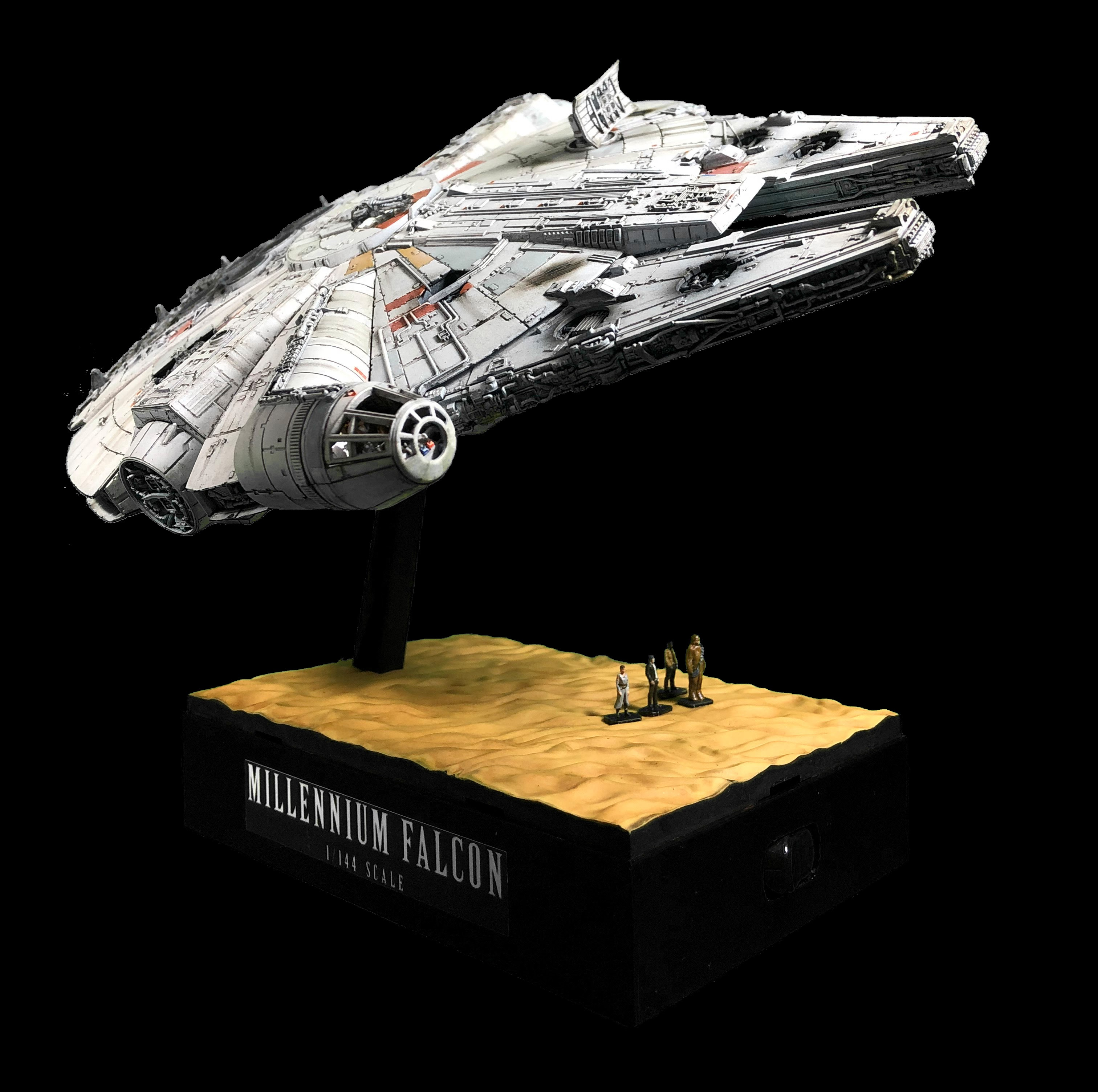 Completed Bandai 1/144 Millennium Falcon 1/144 Star Wars The Force Awakens