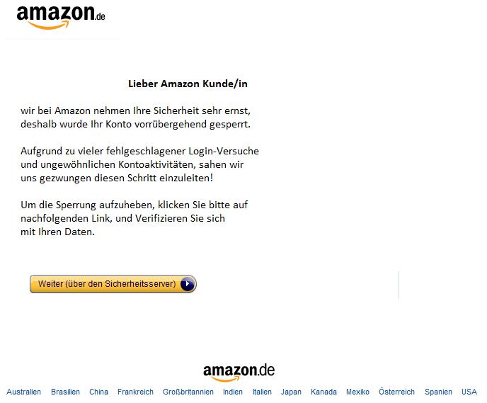 Konto Bei Amazon Gesperrt