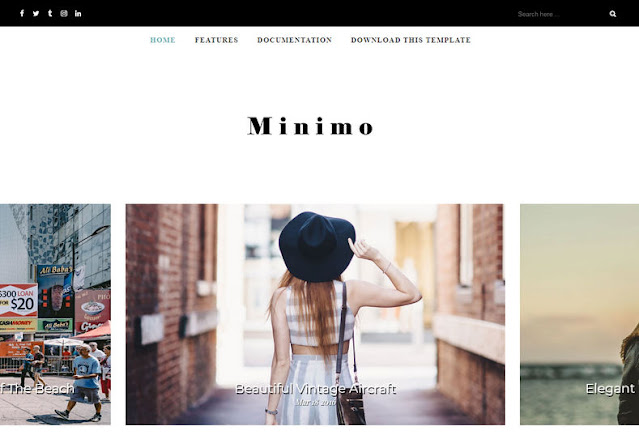 Minimo Free Blogger Template