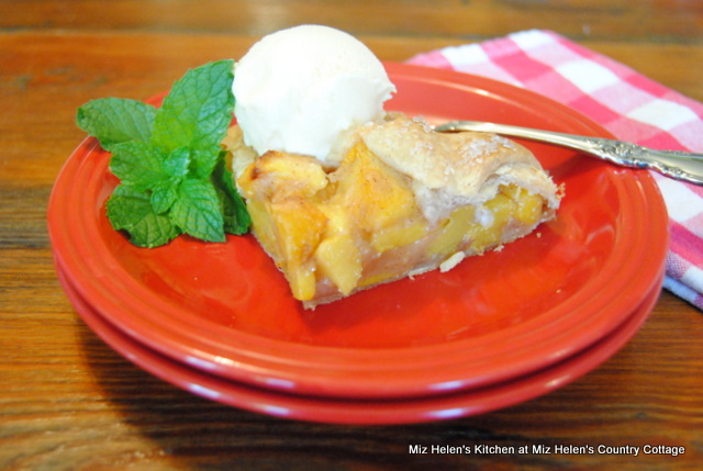 Peach Galette at Miz Helen's Country Cottage