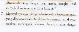 Syiah Menyebut Yazid Sebagai Seorang Hedonisme Bermoral Bejat dan Gemar Mabuk