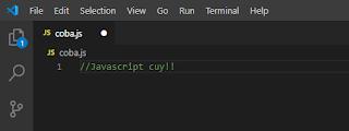 Javascript Dasar : Komentar Satu Baris (//) - Leja Aprianza