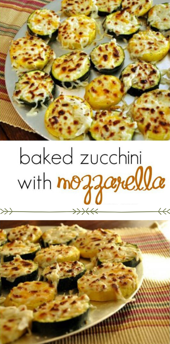 Baked Zucchini with Mozzarella #baked #diet