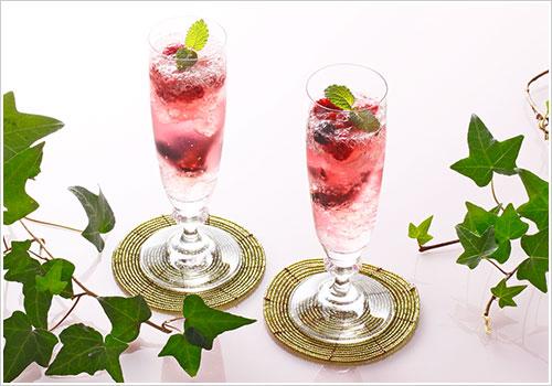 シャンパンと白ワインのゼリー