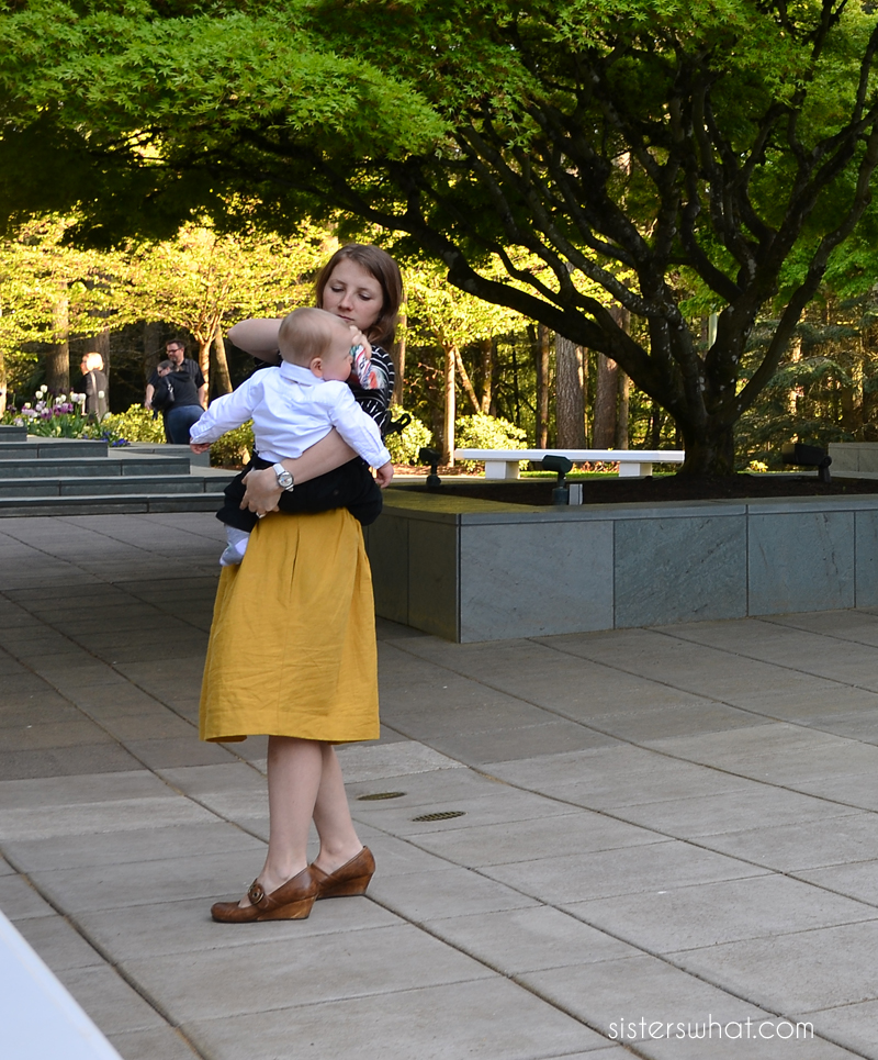 diy yellow linen skirt