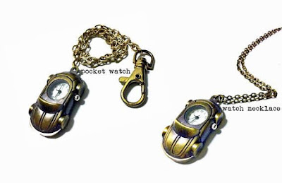 Volkswagen Beetle Watch Necklace / Pocket Watch