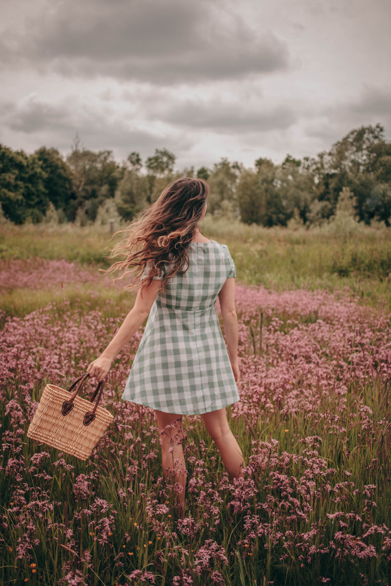 Flower fields and summer dresses