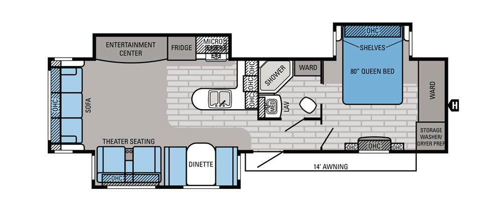 Rear Kitchen Travel Trailer Floorplans – Besto Blog