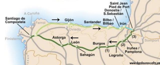 Camino de Santiago Francés y del Norte