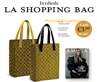 Logo AMICA di Agosto 2020 in edicola con la iconica Shopping Bag