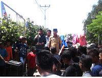 Diduga Ada SPJ Fiktif Elemen Warga Gelar Aksi di Kantor Desa Sanolo