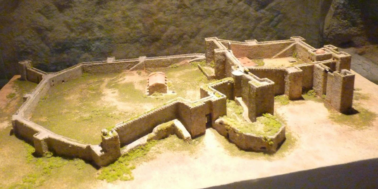 Maqueta de la fortaleza y el Alcazaba de Trujillo.