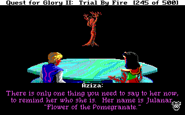The adventure gamer game 45 quest for glory ii fight for your flower of the pomegranate no wonder shes forgotten fandeluxe Gallery