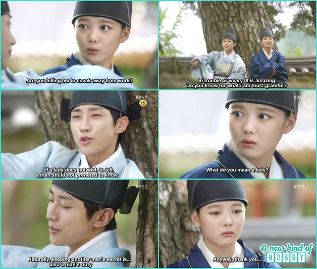 yoo sang and ra on sitting under the tree - Love in The Moonlight - Episode 3 Review