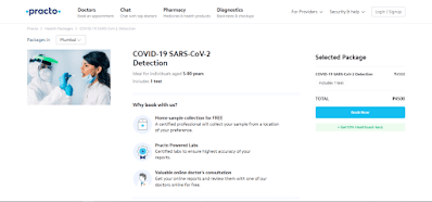 COVID 19 test online