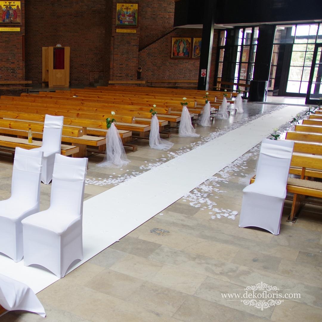 Biały dywan z imionami na ślub Opole