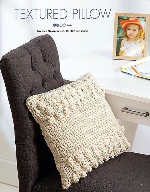 tshirt yarn pillow crochet pattern