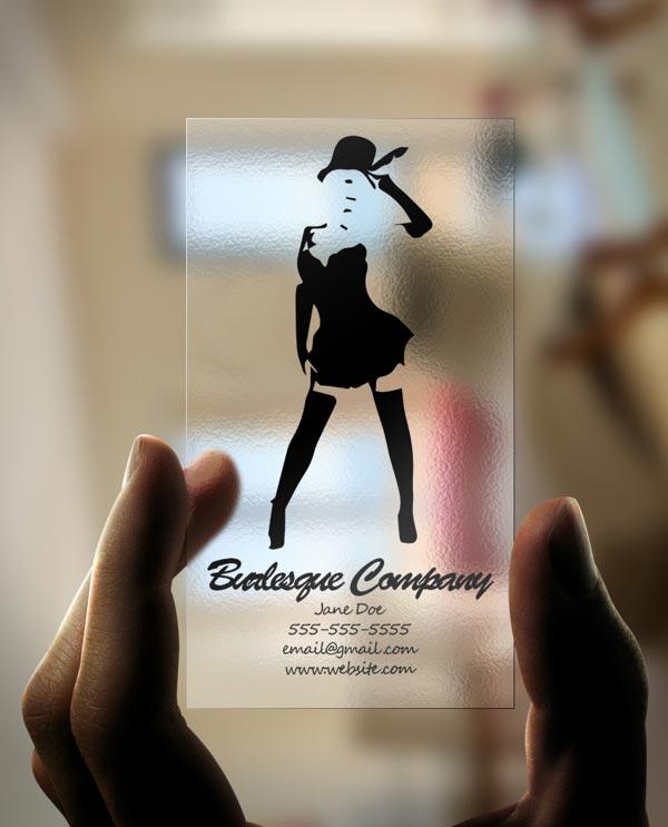 Creative Plastic Business Card Designs