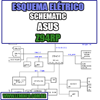 Esquema Elétrico Manual de Serviço Notebook Laptop Placa Mãe ASUS Z94RP  Schematic Service Manual Diagram Laptop Motherboard ASUS Z94RP  Esquematico Manual de Servicio Diagrama Electrico Portátil Placa Madre ASUS Z94RP