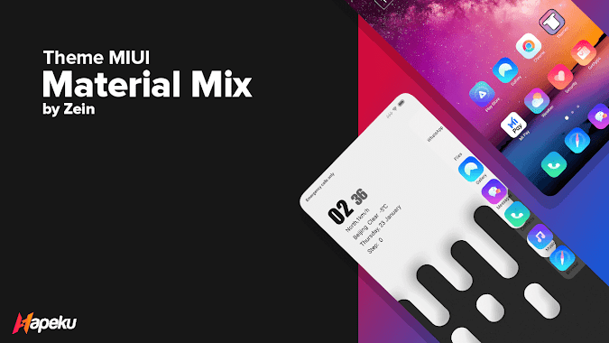 Theme Material Mix v11 for MIUI 10 & 11 ( XIAOMI )