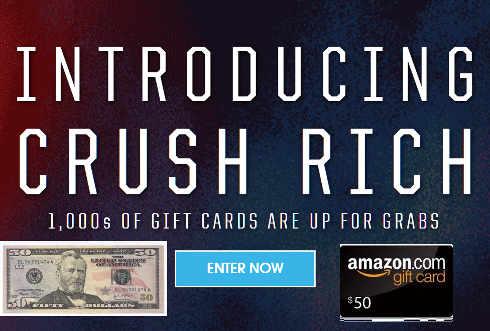 Camel Crush Cash Instant Win Giveaway - 1,800 Winners  Win