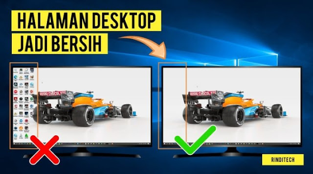 Cara Menghilangkan Semua Shortcut Icon di Desktop Windows