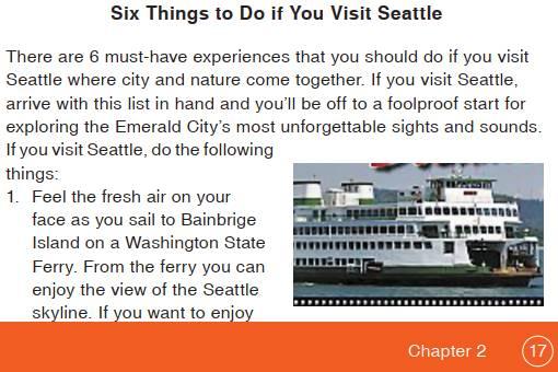 Terjemahan Teks Six Things to Do if You Visit Seattle