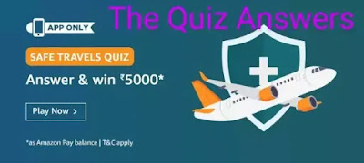 Amazon Safe Travels Quiz Answers: Win Rs.5,000 (20 Winners)