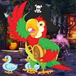 G4K Ecstatic Pirate Parrot Escape