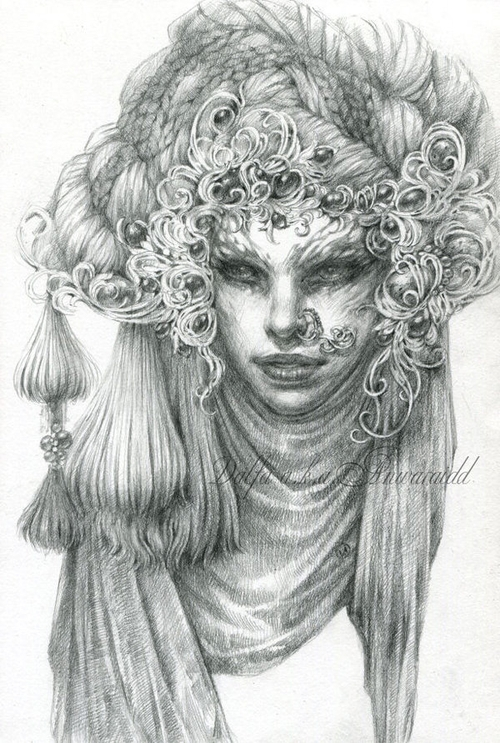 17-Gray-Silk-Olga-Anwaraidd-Drawings-Fantasy-Portraits-Imaginary-Characters-www-designstack-co