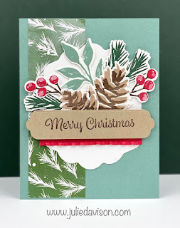 Stampin' Up! Sneak Peek ~ Painted Season Suite Christmas Card  ~ July-December 2021 Mini Catalog ~ www.juliedavison.com