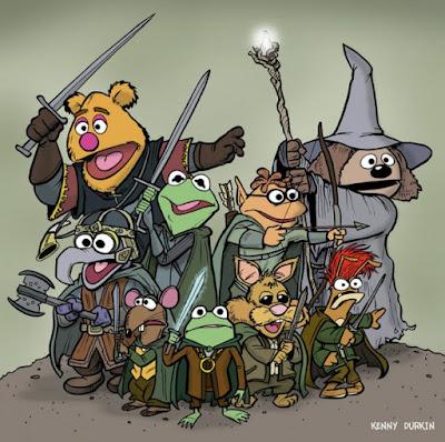 Meme de humor sobre El señor de los anillos y The Muppet Show
