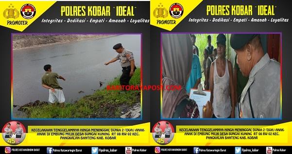 Dua Orang Bocah Tewas Tenggelam Di Embung Milik Desa Sungai Kuning Sedalam 2 Meter