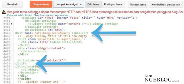 Cara Menyembunyikan Iklan Adsense pada Halaman Pencarian Blog