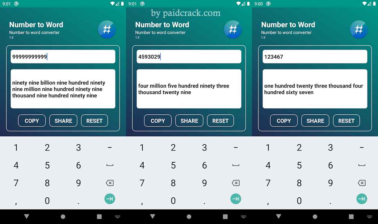 Number to word converter offline Paid Apk 1.3