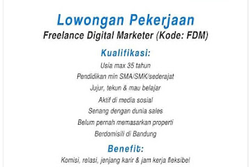 Lowongan Kerja Bandung Freelance Digital Marketer