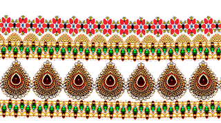 Textile saree border