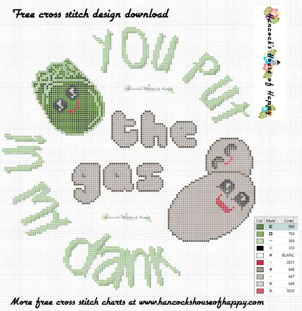 You Put the Gas in My Dank Kawaii Hops and Yeast Craft Beer Cross Stitch Pattern Free to Download