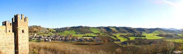 Vista panoramica dalla Rocca Viscontea
