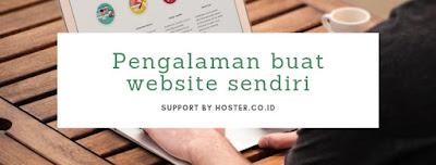 pengalaman buat website sendiri