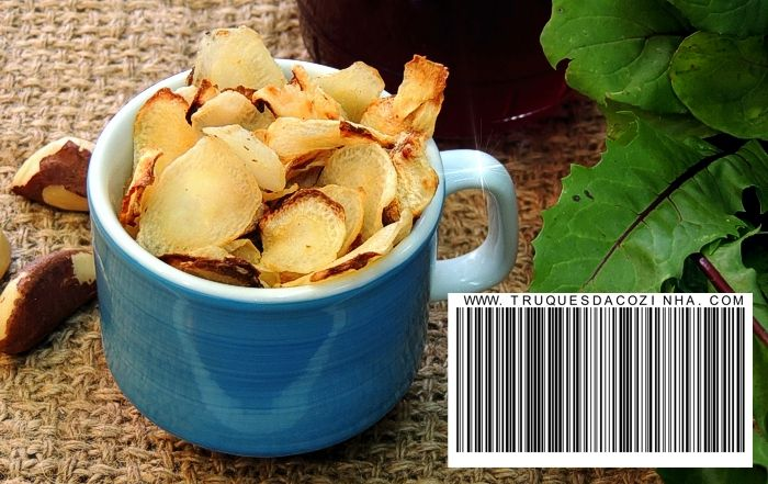 Chips de batata baroa frita na airfryer