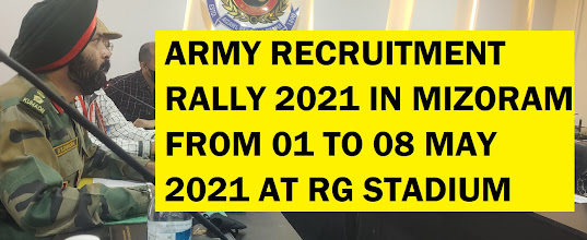 ARMY RECRUITMENT RALLY MIZORAM 2021
