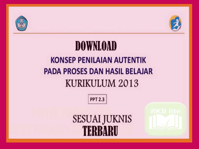 Download Konsep Penilaian Autentik Kurikulum 2013 Sesuai Juknis Versi Terbaru