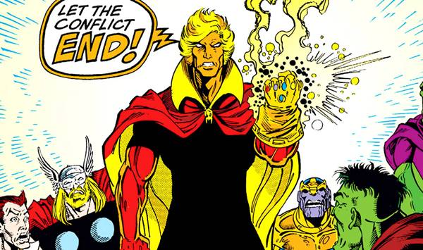 adam warlock with infinity gauntlet comic marvel