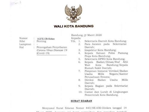 surat edaran terbaru walikota bandung