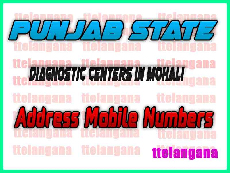Diagnostic Centers in Mohali Punjab